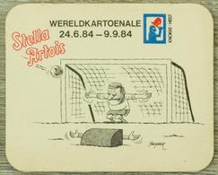 Sous-bock STELLA ARTOIS Wereldkartoenale 1984 But Gardien Football Bierdeckel Beermat Bierviltje (CX) - Sous-bocks