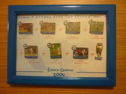 Euro 2004 Greece Greek National Team Football Winner Champion Pin Badge Set Pins Badges - Football
