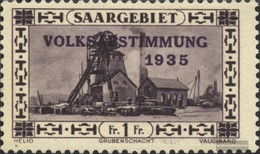 Saar 189 With Hinge 1934 Referendum - 1920-35 League Of Nations