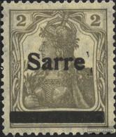 Saar 1I With Hinge 1920 Germania - 1920-35 League Of Nations