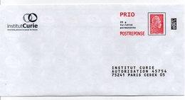 PAP Réponse  Marianne L'engagée  Institut Curie  193325 - Entiers Postaux