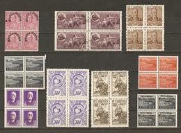 Albanie 1928/60 - Petit Lot De 9 Blocs De 4 (7 MNH - 1 NSG - 1°) - Albania