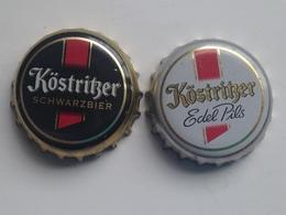 Lote 2 Chapas Kronkorken Caps Tappi Cerveza Kostritzer. Alemania - Bière