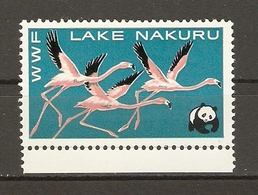 Erinnophilie - WWF - Lake Nakuru, Kenya - Flamants Roses - Vignette MNH - Fantasy Labels