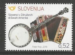 SI 2018-24 MUSIC, SLOVENIA, 1 X 1v, MNH - Slowenien