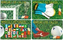 SERIE SCHEDE TELEFONICHE NUOVE RSM 29-32 MONDIALI FRANCIA 98 - San Marino