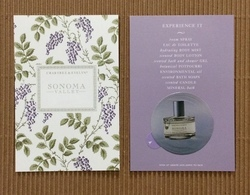 CC Carte 'CRABTREE & EVELYN' SONOMA VALLEY Perfume Card - Cartes Parfumées