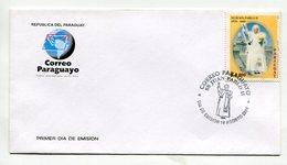 SOBRE MATASELLO CORREO PARAGUAYO SS JUAN PABLO II DIA DE EMISION 2005 FDC- LILHU - Popes
