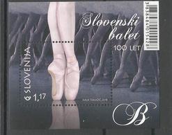 SI 2018-30 BALET SLOVENIA, S/S, MNH - Slowenien