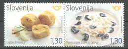 SI 2018-31 GASTRONOMY SLOVENIA, 1 X 2v, MNH - Slowenien