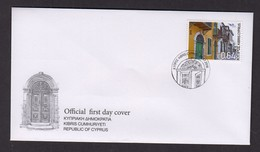 1.- CYPRUS 2018 FDC EUROMED HOUSES OF THE MEDITERRANEAN SEA - Cyprus (Republic)