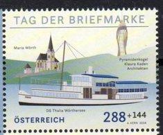 AUSTRIA, 2018, MNH, EU,STAMP DAY, SHIPS, 1v - Journée Du Timbre