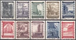 Österreich 1948 Michel 858 - 867 O Cote (2009) 3.00 Euro La Reconstruction Cachet Rond - 1945-60 Usados