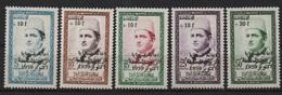 Maroc 1960 - Au Profit Des Victimes Des Huiles Frelatées (Mohamed V) - Y&T 397 à 401 MH* - Maroc (1956-...)