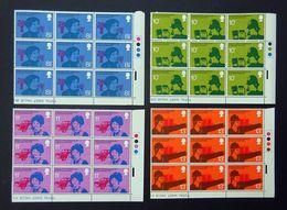 GB QEII 1976 Telephone Centenary SG997-1000 Traffic Light Marginal Blocks, Full Set. Mint Never Hinged. (Ref:A2d) - Ganze Bögen & Platten