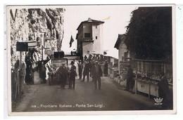 CPA-06-1930-MENTON-FRONTIERA ITALIANA-PONTE SAN-LUIGI-ANIMEE-PERSONNAGES-DOUANIERS-ECHOPPES DE VENDEURS- - Menton