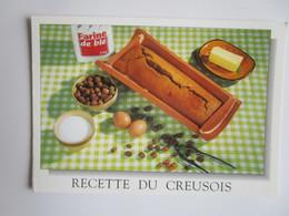 Recette Du Creusois. MGE 2399011 Postmarked 2001 - Recipes (cooking)