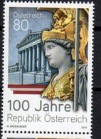 AUSTRIA, 2018, MNH, 100 YEARS OF AUSTRIAN REPUBLIC, GODDESS ATHENA, 1v - Celebrations