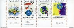 """Maroc;2018;coin Daté; TP N°à Venir ;  """" Un Sourire Pour La Terre """" NEUF**;MNH;Morocco;Marruecos - Maroc (1956-...)"""