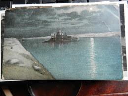 19808) CANAL DE SUEZ DRAGUE VIAGGIATA 1908 ANGOLO PIEGATO - Suez