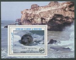 Mauretanien 1986 Naturschutz Mönchsrobbe Block 63 Postfrisch (C24647) - Mauritanië (1960-...)