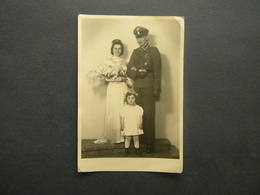 WEDDING - GERMAN NAZI  OFFICER - PRAHA - PRAG - 16.4.1943 FOTO - MRAZ -PRAHA - Guerra, Militari