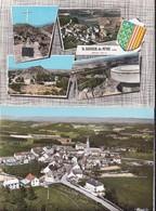 Lot De 2 C.p.: St Sauveur De Peyre Vue Aérienne, Multivues    - Dentelées - - Francia