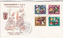WOHLFAHRTSMARKEN 1964-FDC BERLIN 1964 - 4 COLOR STAMPS- BLEUP - [5] Berlin