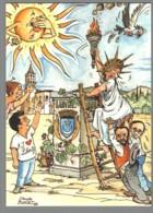 CPM 34 - Lunel - Comité Pour La Réinstallation De La Statue De La Liberté De Lunel - Illustration De Buret - Lunel