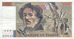 N. 1 Banconota - BANQE  DE  FRANCE  -  FRANCHI 100 -  Anno 1989 - 1871-1952 Antichi Franchi Circolanti Nel XX Secolo