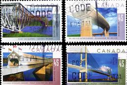 Canada (Scott No.1570-73 - Ponts / Bridges) [o] - 1952-.... Règne D'Elizabeth II