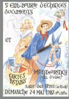 CPM 95 - Montmorency - 5ème Expo Bourse D'échange - 1987 - Dessin De Jean Bernadac - Montmorency