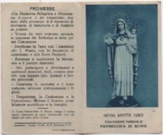 Santino Per La Comunione Pasquale Anno Santo 1950 Nella Parrocchia Di Schio (Vicenza) - Santini