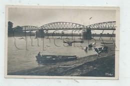 Fleurville (71) : Troupeau De Vaches à L'abreuvoir Près Du Pont En Fer En 1950 (animé) PF. - Other Municipalities