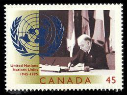 Canada (Scott No.1584 - 50e Des Nations-Unies / United Nation 50th) [**] - 1952-.... Règne D'Elizabeth II