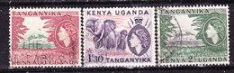 Kenya,Ouganda,Tanganjika 1954.-Valori Usati - Kenya, Uganda & Tanganyika