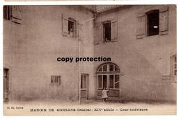 Manoir De Gonsans (Doubs) XIV Siecle, Cour Interieure, Alte Ansichtskarte - Baume Les Dames