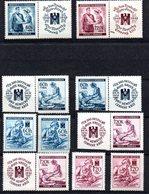 1941 Adolf Hitler Guerre 1940/45 Deutshes Reich *  Y §T N°39,40,61,62,99,100 Bohème Et Moravie - Bohême & Moravie