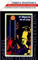 TARJETA TELEFONICA DE CUBA. CINE, EL DEPORTE EN EL CINE. 07.2003 -  CU-UR-040 (103) - Cine