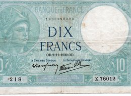 FRANCIA 10 FRANCS 1939  P-84 VF - 1871-1952 Antichi Franchi Circolanti Nel XX Secolo