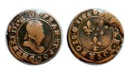 Double Tournois HENRI III 1586 C (Saint-Lô) - 1574-1589 Henri III