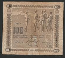 FINLAND 100 MARKKAA 1922 Issued Litt C, PICK #65a VF - Finlande