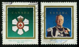 Canada (Scott No.1446-47 -Order Of Canada) (o) - 1952-.... Règne D'Elizabeth II