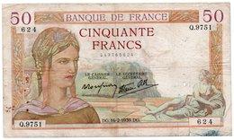 FRANCIA 50 FRANCS 1941  P-85 - 1871-1952 Antichi Franchi Circolanti Nel XX Secolo