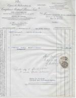 Facture Compagnie Fabrication Compteurs Et Matériels Usines à MONTROUGE (SEINE) De 1932 - France