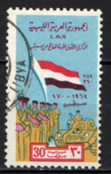 LIBIA - 1970 - 1° ANNIVERSARIO DELLA REPUBBLICA ARABA LIBICA - USATO - Libya