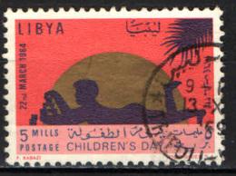 LIBIA - 1964 - GIORNATA DEL FANCIULLO - USATO - Libya
