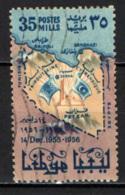 LIBIA - 1956 - 1° ANNIVERSARIO DELL'AMMISSIONE DELLA LIBIA ALLE NAZIONI UNITE - USATO - Libya
