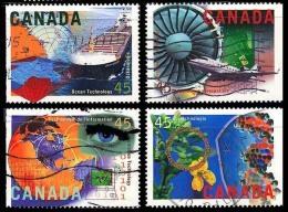 Canada (Scott No.1595 - Industrie De La Haute Technologie / High Tech Industries) (o) Série / Set - 1952-.... Règne D'Elizabeth II