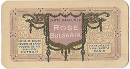 -Carte Parfumée,Rose Bulgaria,Parfumerie MAUBERT ,Paris ,Poudre ,savon ,1913 - Perfume Cards